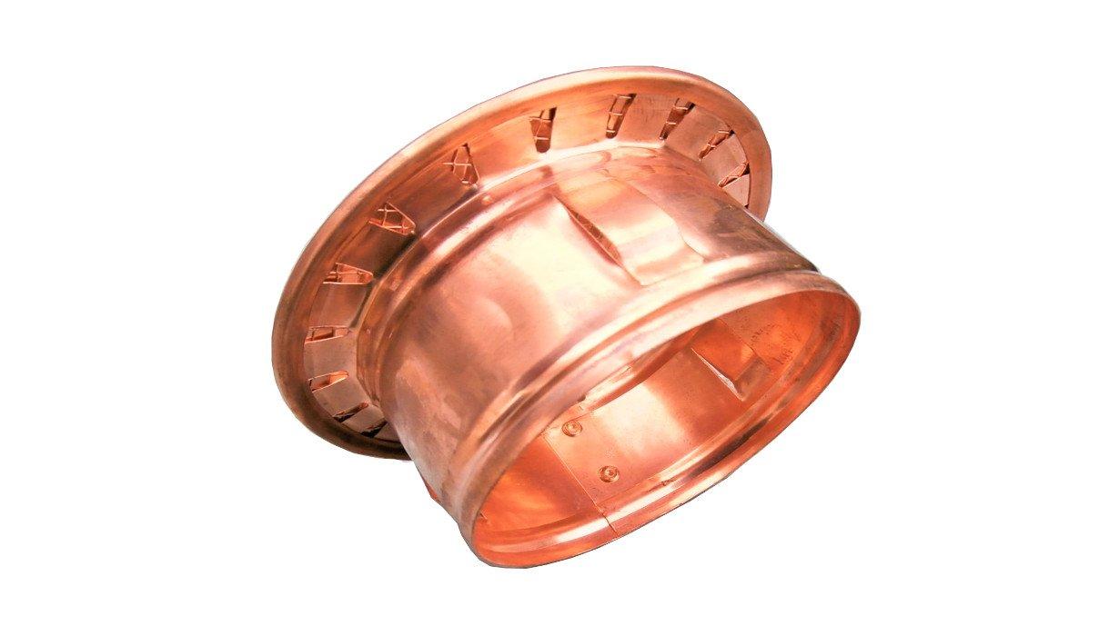 Griglia aerazione antinsetti in rame diametro 10 cm boccaglio in plastica tonda